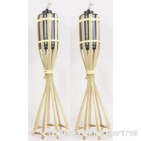 Bamboo Tabletop Tiki Torch - (2) - B072LY9DN9