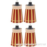 Bamboo  Torches - 4 Pack - Metal Oil Canister - 8in High  10oz. Capacity - Sturdy Table Torch By Kaya Collection - B073HLNYY1