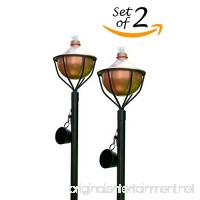 Dusq All-In-One Citronella Garden Torch Modern Copper Finish (Set of 2) - B076DHB61S