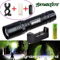 Flashlight LandFox Tactical XM-L T6 Zoom Torch Light Lamp LED Flashlight + 18650 Battery + Charger - B01MFBPHRI