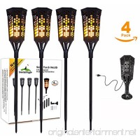 Flickering Flame Solar Torch Landscaping Light Kit (4 Pack) - Extra Long (36in) & L Mounts - Hi-Capacity Battery  Rechargeable Dusk-to-Dawn Accent Lighting for Garden Deck Patio Path Yard or Driveway - B07BPQVM2V