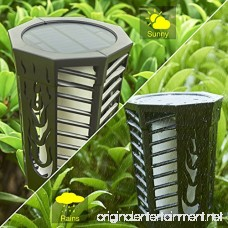 House Day Solar Lights 2 Pack DancingFlickering Flames Outdoor Solar Path Torches Lights Waterproof 96 LED Lantern Wireless Lighting Lamp for Garden Patio Yard - B07791B7S7