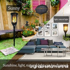 Ideapro Solar Lights [Upgraded 2018] Torch 96 LED Solar Powered Flickering Flames Landscape Decoration Lighting Multipurpose Outdoor and Indoor for Wall Mounted Garden Patio Yard Desk Lamp (2 Pack) - B078MNZ8ZT
