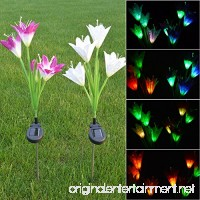 Kuke solarmart flower solar lights Garden Stake Lights for Garden  Patio  Backyard - B07FKH7PYG