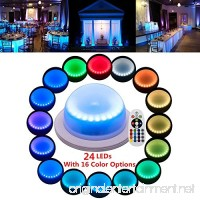 LACGO Chargable 24 LEDs Super Bright with 16 Color Options Remote Control Rechargeable Wedding Under Table Light  Waterproof LED Garden Light  Multicolor Swimming Pool Light Perfect for Home(1 PCS) - B07D5PR5XD