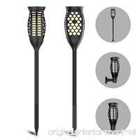 Luxvista LED Solar Torch Light  Waterproof LED Flickering Flames Torches Lights 3 Modes Retro Dancing Flames Dusk to Dawn Lightfor Landscape Decoration Security Gardens Patio Yard Driveway  Warm White - B07D6LFHSG