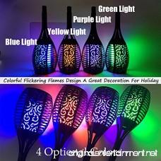 Onlyvogue Solar Torch Lights LED Solar Flame Light 96 LEDs Waterproof Lantern Lights Blue Fire Flickering Flame Wireless Solar Garden Lights for Patio Pathways Yard(2 Pack) - B07C1JSCZ4
