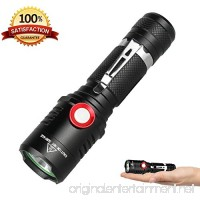 Rechargeable Tactical 18650 USB Flashlight  Powerful Cree XML2 Led Flashlights  Stepless Dimming Bright 1500 Lumens Waterproof Torch Light  Intelligent Power Indicator  Battery+Charge Cable Included - B07CZHQ3MG