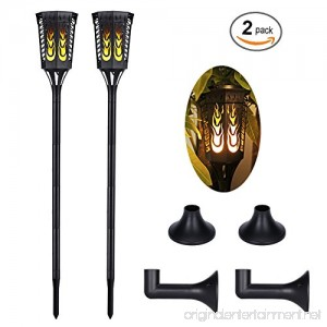 Slopehill Solar Lights Outdoor with 96 LED Solar Light Outdoor Decor Waterproof Dancing Flame Torch Lights Decoration Lighting For Garden Patio Deck Yard Path Driveway 2 Pack - B077KV4F46