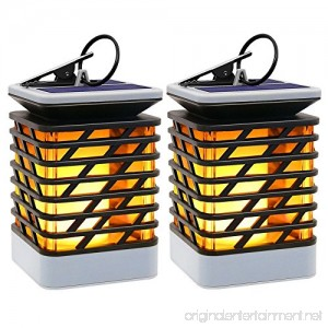 Solar Lights Outdoor LED Flickering Flame Torch Lights Solar Powered Lantern Hanging Decorative Atmosphere Lamp for Pathway Garden Deck Christmas Holiday Party Waterproof Auto On/Off(2 Pack) - B07CQTXMTY