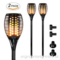 Solar torches Lights Outdoor  Landscape Lighting Waterproof LED Flickering Dancing Flames  solar powered for Outdoor Decorations Garden Patio Backyard Pathway Dusk to Dawn Auto On/Off Pack of 2 PCS - B01IJ8YZEG