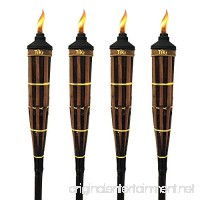 TIKI 60 in. Royal Polynesian Bamboo Torch Dark Finish (Pack of 4) - B07B898S2H