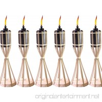 Tiki Original Natural Bamboo Table Torch Handcrafted Design (Pack of 6) - B07CRPCC7Y