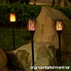 zkee Solar Torch Light With Flickering Flame Fire Effect 96LED Lantern Dancing Flame Solar Garden Light Dust to Dawn Outdoor Waterproof Garden Decoration Solar Powered Stick Light (set of 2) - B07BSG5WNP