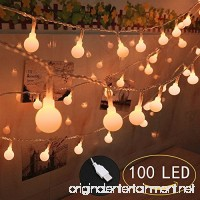 100 LED Globe String Lights  Ball Christmas Lights  Indoor / Outdoor Decorative Light  USB Powered  39 Ft  Warm Yellow Light - for Patio Garden Party Xmas Tree Wedding Decoration (NO INCLUE USB PLUG) - B077GSH55G