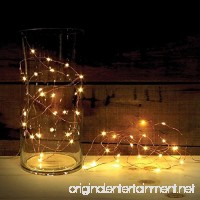 2 Sets of ATTAV LED String Lights with Timer  Battery Operated 20 Micro LEDs on 7 Feet Ultra Thin Copper Wire  Starry String Lights Fairy Lights for Bedroom Christmas Party Wedding Dancing(Warm White) - B01KE88N5Q