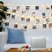40 LED Photo Clips String Lights – 8 Modes Wall Hanging Clothespin Picture Display Peg Card Holder  Girl Back to School Dorm Room Décor Essential  Birthday Party Halloween Christmas Decorations Gifts - B074QN381Z
