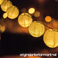 AceList 20 LED Nylon White Lanterns String Lights Great for Wedding Home Bedroom Yard Party Garden To Decorations - B076P8R3C4