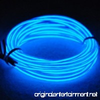 Amicc® 3m 9ft Portable Neon Light El Wire with Battery Pack Neon Glowing Strobing Electroluminescent Wire for Parties Halloween Decoration (3m 9ft Blue) - B019IQ8GF2