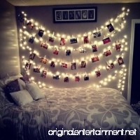 AOSTAR 20 LED Photos Clips String Lights (10ft. Warm White) Battery Operated Fairy String Lights for bedroom Hanging Photos  Cards and Artworks - B0776QB3Z2