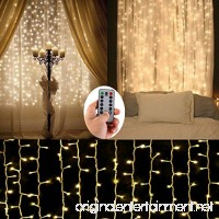 Battery Operated Curtain String Lights 300 LED Icicle Window Background Fairy Lights [Remote 8 Mode Timer 9.8 ft ×9.8 ft  Dimmable ] Decoration Lights for Outdoor Wedding Camping RV BBQ Party - B0725RGPZ1