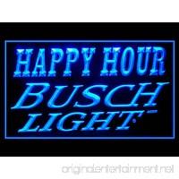Busch Light Beer Happy Hour Drink Led Light Sign - B017WE5GCI