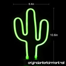 Cactus Neon Signs LED Night Light Wall Decor Light Operated By plug for Birthday party Kids Room Living Room Wedding Party Decor . - B076BRZWHJ