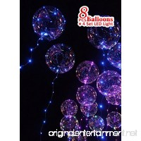Clear LED light balloon   BoBo Balloon with Color/RGB LED string lights for Parties  Decorations and Holidays  Total 8 balloons + 4 pcs 3 meters string light. - B077L5939X