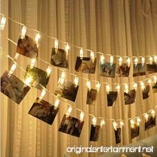 Clip String Lights Coxeer 10Feet 20 LED Photo Clips String Lights Indoor Fairy String Lights for Birthday Wedding Graduation Party Dorms Bedroom Decoration(Warm White) - B01MQ2JYXV