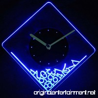 cnc2014-b Dropped Numerals Illuminated Edge Lit Bar Beer Neon Sign Wall Clock with LED Night Light - B016G4LD04