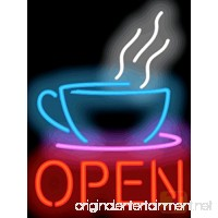 Coffee Cup Neon OPEN Sign - B00881D4TC