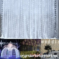 Curtain lights  Ucharge Led Icicle Christmas String Fairy Wedding Lights 600led 19.8feet Window Curtain 8modes White Window Light Decor Party/Kitchen/Bathroom/Bedroom String Light - B071CG88KB