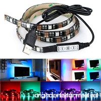 DeepDream LED Strip Lights TV Backlight 4.9ft 5050 45Leds 5V USB Powered Mini Controller for HDTV Flat Screen TV Accessories and Desktop PC Multi Color - B06XBY86BR