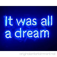 "Desung Brand New 20"" Blue Color It Was All A Dream (Various sizes) CUSTOM Design Decorated Acrylic Panel Handmade Man Cave Neon Sign Light UT110 - B0799NTWJD"