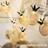 Fellibay Pineapple String Lights 6.6ft 20 LED Indoor Fairy String Lights for Bedroom Christmas Home Wedding Party Birthday Decoration(No Battery) - B077P6YVF3