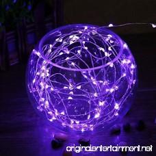FURNIZONE 6pcs Micro Starry LED String Lights - 6.6ft 20 LED Fairy Lights Battery Operated Light Up String Lights Copper Wire Lights Bottle DIY Mason Jar Lights Moon Lights Purple - B01M8N4HXI