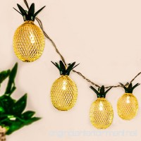 GIGALUMI Pineapple String Lights  10ft 10 LED Fairy String Lights Battery Operated for Christmas Home Wedding Party Bedroom Birthday Decoration (Warm White) … - B074T9QM8X