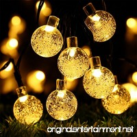 Globe Battery Operated String Lights with Timer - RECESKY 30 LED 17.5ft Crystal Ball Decor Lighting for Outdoor Indoor Garden Party House Garland Ornament Christmas Tree Decorations - Warm White - B01FLWH7VG