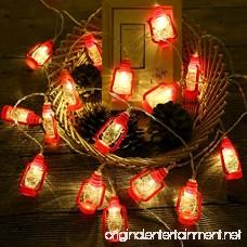 Gzero 30 LED Red Lantern Mini Kerosene String Lights For Patio Garden Holiday Home Decorations (Warm white light) - B07CGP9C8N