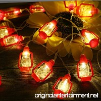 Gzero 30 LED Red Lantern Mini Kerosene String Lights For Patio Garden Holiday Home Decorations (Warm white light) - B07CGP9C8N