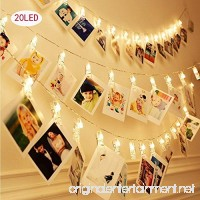 HiSayee Dec Waterproof LED String 20 Clips Battery Powered Fairy Twinkle Wedding Party Christmas Home Decor Lights for Hanging Photos  Cards and Artwork - B074S5Q5MG