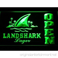 Landshark Lager Beer OPEN Bar LED Neon Light Sign Man Cave 082-G - B00VIFPWZE