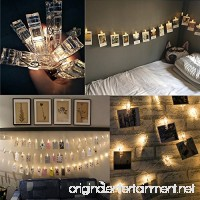 LED Photo String Lights HOMEWE 40 LED Clips Battery Powered Firefly Starry Strand Lights 3 Modes Twinkle Lights for Wedding Party Christmas Home Decor (warm white 11.8 Feet) - B072Q3589B
