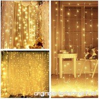 LIGHTESS 300 LED String Fairy Light Curtain Lights 8 Mode Outdoor/Indoor Use For Home Garden Patio Lawn Wedding Birthday Party Holiday Decoration (Warm White) - B017TXLJ8C