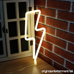Lightning LED Neon Sign Night Light Table Wall Thunder Neon Lamp Best Gift for Family Birthday Holiday Party (Lightning) - B07CH74WPC