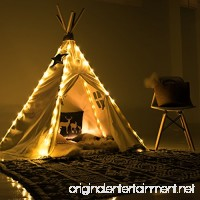 little dove Fairy Lights for Teepee Tents - Battery Operated 4 LED Strings for Wedding Party Centerpieces Waterproof Decorative Lights for Bedroom Kids Teepee Decoration TENT NOT INCLUDED - B074DRGFK6