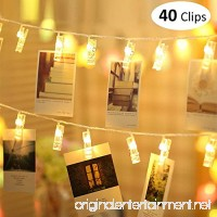 MESUNKA LED Photo String Lights  40 LED Photo Clips String Lights (16.4 ft)  Battery Powered for Home Party Decor  Hanging Picture Frame for Party Wedding Dorm Bedroom Birthday Christmas Decorations - B07DZZVMP2