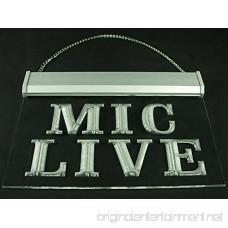 Mic Live Studio Recording Microphone Led Light Sign - B01IY1C22U