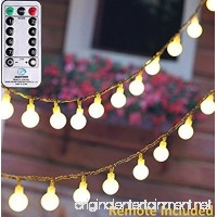 MineTom UL Listed 33 feet Crystal Ball 100 LED Globe String Lights with Remote & Timer  Warm White - B01LKS55JQ