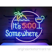 New It's 5 O'clock Somewhere Neon Light Sign 20''x16'' V50 - B00WYZROEO